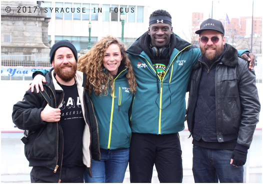 Mike Giannattasio, Kathleen Pulito, Kemari Stewart and Michael Heagerty in Clinton Square