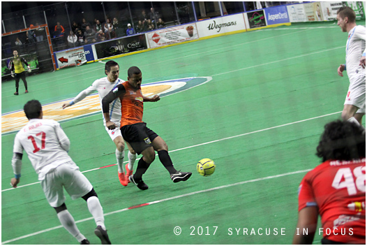 The goals were so plentiful in today's Silver Knight victory over the Chicago Mustangs that even defender Darren Toby booted a score (in the first quarter).