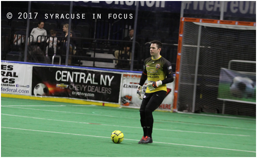 Coach to Keeper: Bryan O'Quinn left the field as one of the best goalies in the league. He retired to become head coach of the Knights. Yesterday marked his come-back. He recorded 17  saved and Syracuse defeated Chicago 11-2.
