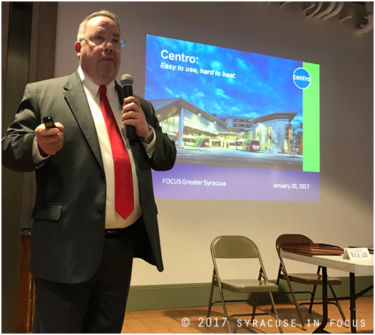 CENTRO CEO Rick Lee talked about transportation in Syracuse as well as Uber and Lyft at the F.O.C.U.S. Forum.