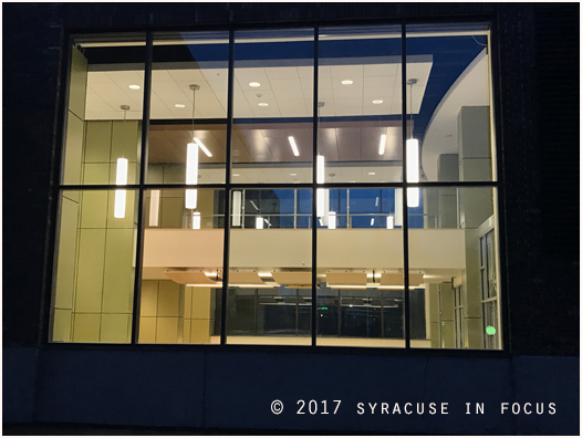 This used to the periodical and reference section of the SUNY OCC library.  It is now a gateway/corridor to the new library.