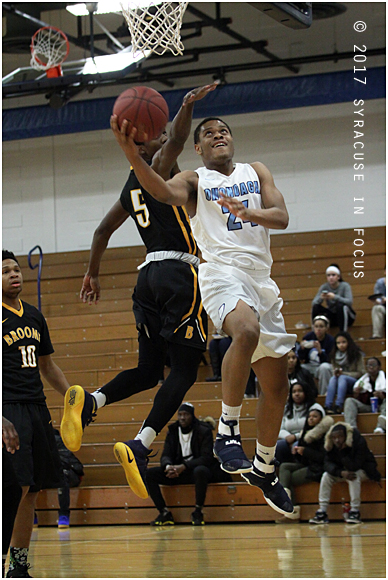 Shemere Elliot went 7 for 7 from the field last night and scored 16 points.
