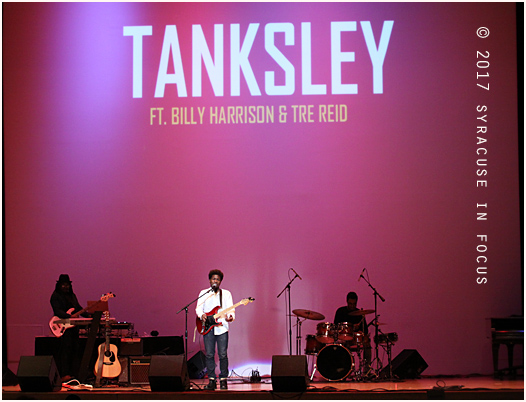 Vocalist Tanksley was one of the featured artists at Syracuse University's Black Lounge on tonight.