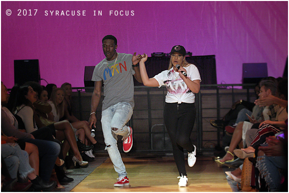 Fashion's Conscience hosts and SU students Majik and Kamey. Creative duo for a creative show.