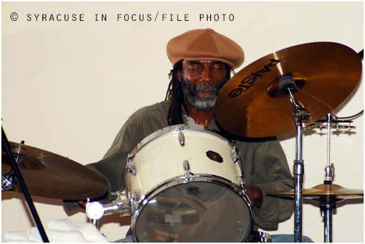 The Beat Goes On: Ralph Kinsey at a show in Syracuse (circa 2003).