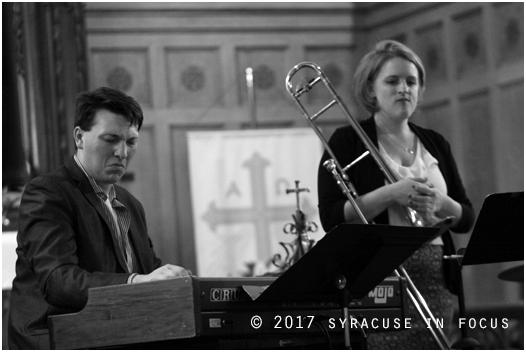 Will Gorman and Melissa Gardiner at St. Stephen Lutheran Church in Syracuse