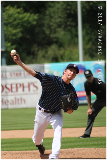 Erick Feddy consistently throws in the 90s from the mound.