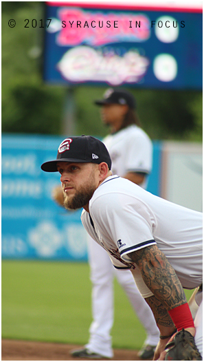 Syracuse Chiefs firstbaseman Brandon Snyder