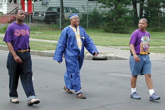 Juneteenth Parade from the early 2000s. George Kilpatrick (center) as the Grand Marshall