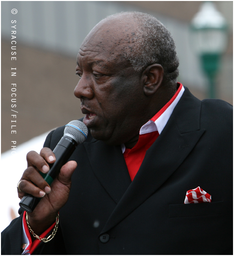 The #jazzinthecity series by @cnyjazz_org has expanded to five shows this summer and the August 24th edition, which will be held at @byrnedairy on Cortland Ave, features @kingsolomonhicks and the Bells of Harmony. Sure it will be a spirited combination. This is Bells founder and lead vocalist, Charles Cannon. He introduced us to gospel legend #joeligon back in the day. #gospellegends #summermusicfestivals #dapperleaders #cnyjazz