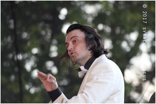 Christian Capocaccia kept time for Symphoria and special guest Joe Magnarelli.