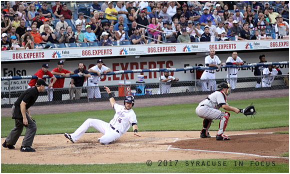Chiefs outfielder Brandon Snyder singled in the first inning and later scored on a single by Bengie Gonzales. The action was part of a four-run, two out rally by the Chiefs in the first inning. The lost the game to Indianapolis 5-4.