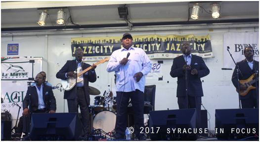 Charles Canon and the Bells of Harmony were the featured act (along with King Solomon Hicks) for the fourth of five Jazz in the City concerts. Last night's show was the first to be held at the Byrne Dairy distribution facility.