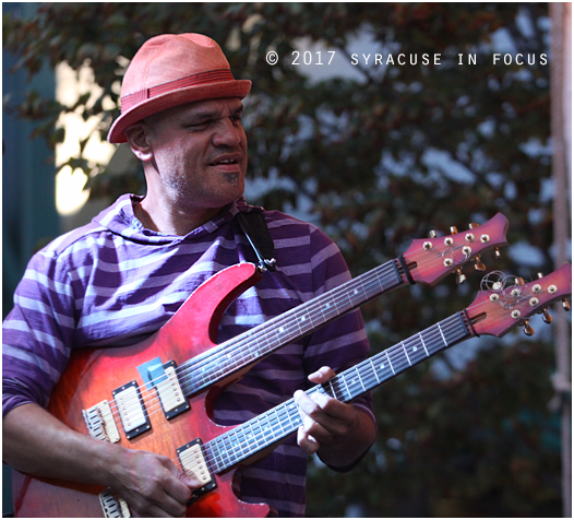 Screaming Headless Torsos founder and guitarist David Fiuczynski and his band led a out-of-the-box fusion explosion at Lemoyne Plaza to close out the Jazz in the City series.