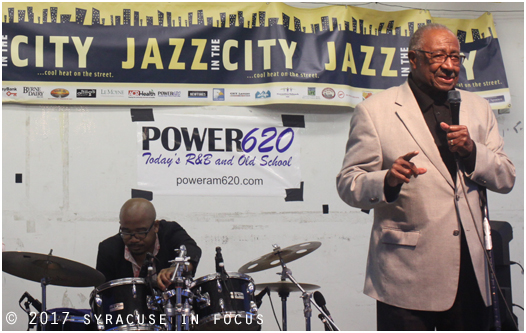 Before King Solomon Hicks hit the stage Common Council President Van Robinson was given an achievement award for his involvement to help grow Jazz in the City.