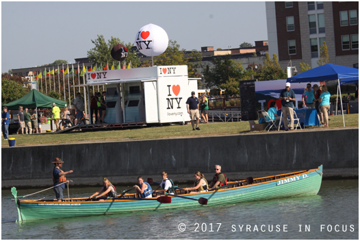 The Inner Harbor was buzzing with activity today as part of the World Canals Conference happening in Syracuse this week.