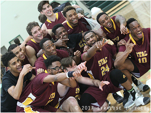 St. Thomas Aquinas Men's Basketball won the 2017 NCAA Division II East Regional at Lemoyne College.